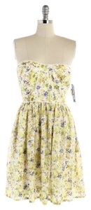 Gianni Bini short dress Yellow & Blue on Tradesy