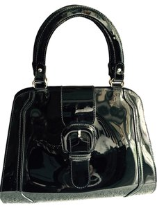 Marni Patent Leather Tote in Black
