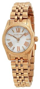 Michael Kors Michael Kors Rose Gold White Dial Small Ladies Watch