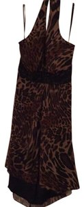 En Focus Studio short dress Black and brown, leopardskin on Tradesy