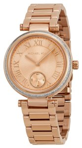 Michael Kors Michael Kors Rose Gold Crystal Bezel Ladies Fashion Watch