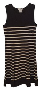 Bar III A-line Sleeveless Lbd Striped Dress