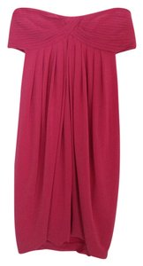 BCBGMAXAZRIA Strapless Draped Dress