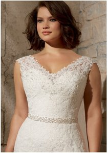 Mori Lee Beaded Satin Bridal Belt