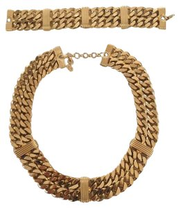 Dior Christian Dior Gold Link Chain and Bracelet - Authenticity Guaranteed