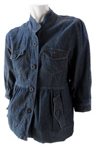 BandolinoBlu Chambray Stretchy Coat 1822 Blue Jacket