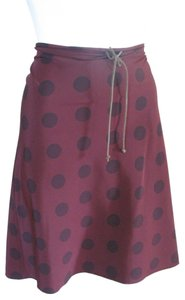 Theory Size 10 Wine Skirt burgundy