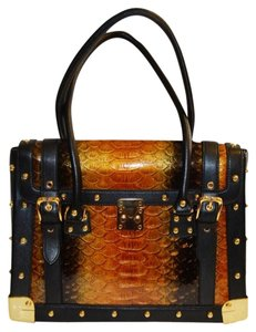 The Find Satchel in Black/Amber