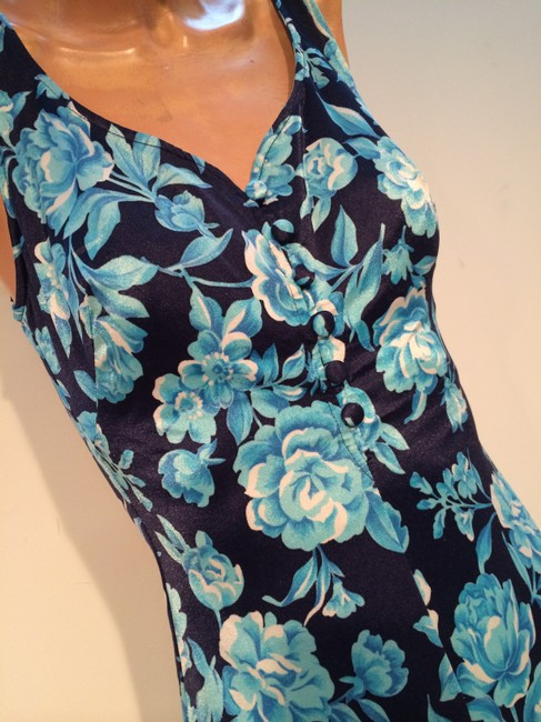 Maxine of Hollywood Maxine of Hollywood One Piece Bathing Suit Vintage Swimwear Floral Swimsuit Blue
