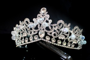 Wedding Tiara Princess Crown Silver Plated