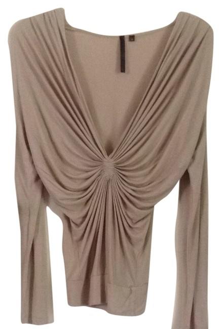 Preload https://img-static.tradesy.com/item/4378402/kay-unger-tan-night-out-top-size-6-s-0-0-650-650.jpg