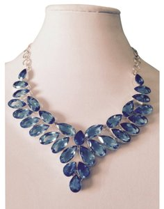 Embellished by Leecia Blue Topaz Statement Necklace