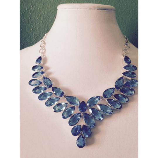 Other Embellished by Leecia Blue Topaz Statement Necklace