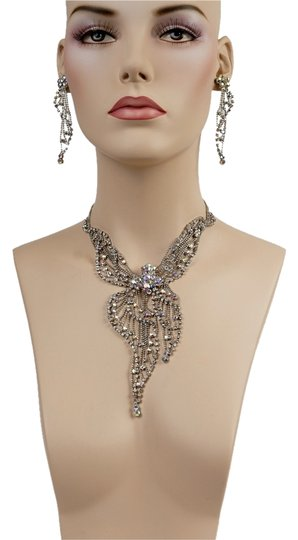 Preload https://item3.tradesy.com/images/silver-swarovski-earrings-l-3-necklace-4378477-0-0.jpg?width=440&height=440