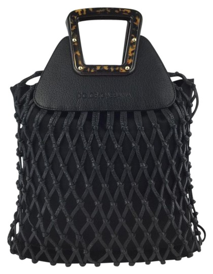 Preload https://item4.tradesy.com/images/dolce-and-gabbana-black-leather-and-canvas-satchel-4378768-0-2.jpg?width=440&height=440