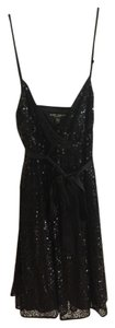 Betsey Johnson Sequin Satin Dress