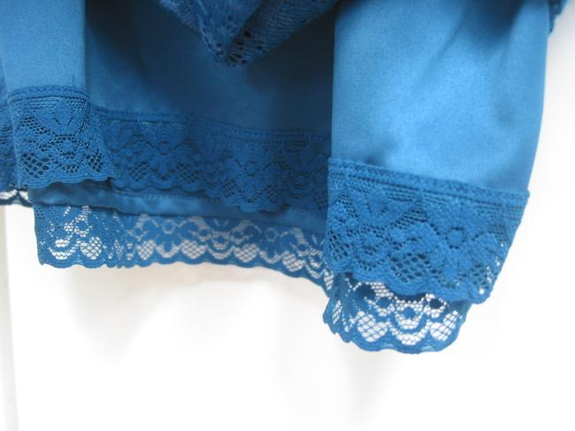 Anthropologie Lace Sexy Pencil Skirt Teal Turquoise