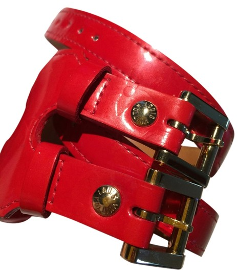 Preload https://item3.tradesy.com/images/louis-vuitton-louis-vuitton-red-leather-vernis-cuff-4379002-0-0.jpg?width=440&height=440