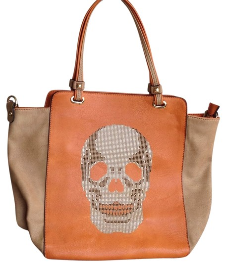Jns Tote in Tan and Apricot