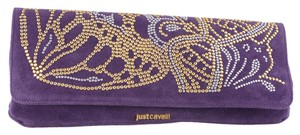 Just Cavalli Purple Clutch