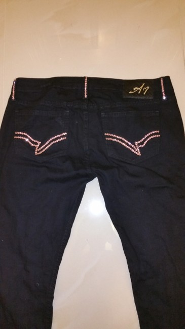 A7 Straight Leg Jeans-Distressed