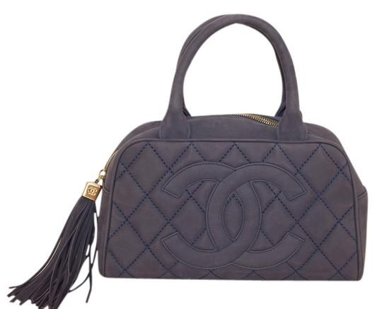 Preload https://item5.tradesy.com/images/chanel-28cm-blue-suede-leather-clutch-4379329-0-0.jpg?width=440&height=440