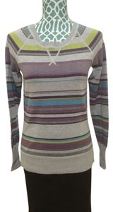 Sonoma Knit Long Sleeves Cotton Crew Neck Grey Green Blue Sweater