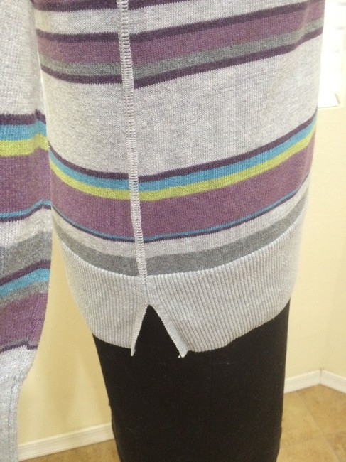 Sonoma Knit Long Sleeves Cotton Crew Neck Grey Purple Green Blue Sweater