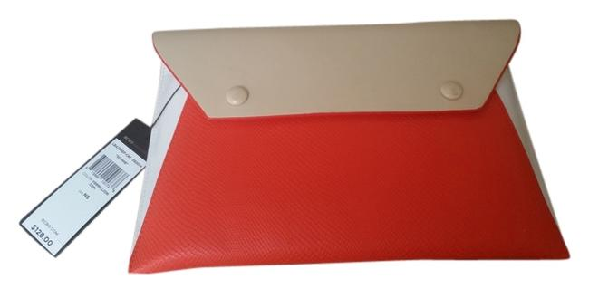 Item - Bcbg Sophie Envelope Orange Multi Faux Leather Clutch