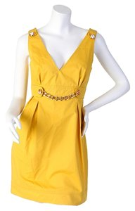 Dolce&Gabbana short dress yellow on Tradesy