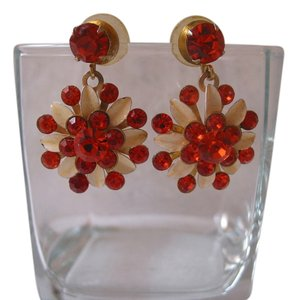 Other Vintage orange sunburst earrings