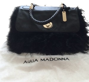 Aqua Madonna Satchel in Black