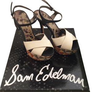 Sam Edelman Black,light cream and multiple Platforms