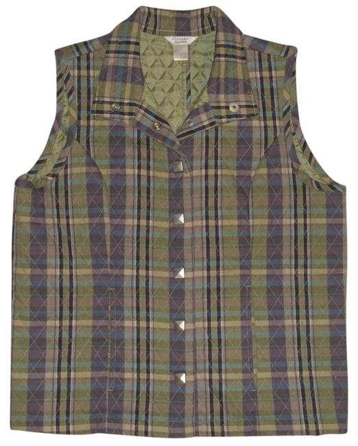 Preload https://img-static.tradesy.com/item/4380358/christopher-and-banks-plaid-quilted-snap-front-small-vest-size-4-s-0-0-650-650.jpg