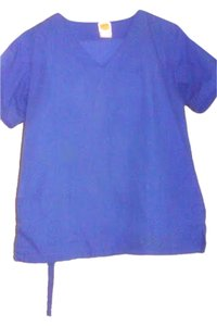 Radiance small royal blue scrub top/bottoms