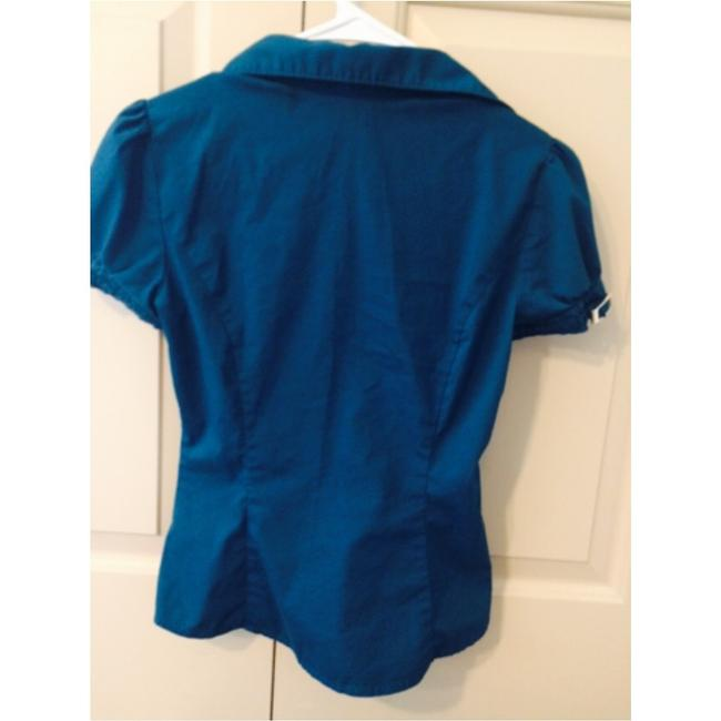 Express Button Down Shirt Turquoise