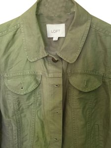 Ann Taylor LOFT Forest Military Spring Military Jacket