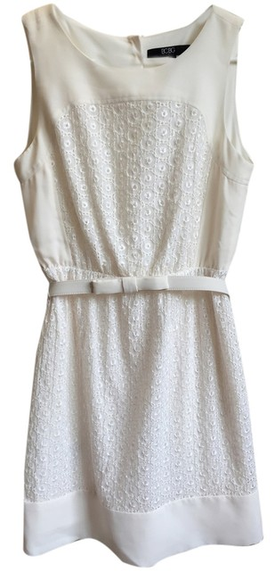 Preload https://item1.tradesy.com/images/bcbgmaxazria-lace-belted-dress-ivory-4381105-0-0.jpg?width=400&height=650