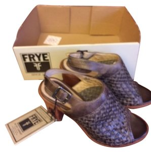 Frye Leather Brown Mules