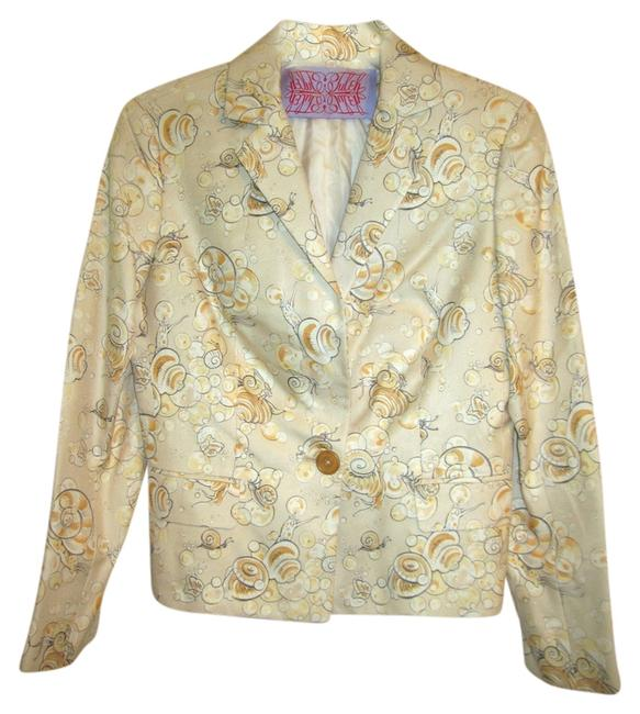 Preload https://img-static.tradesy.com/item/4381777/tuleh-cream-peach-gray-snail-print-blazer-size-2-xs-0-0-650-650.jpg
