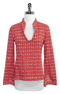 Tory Burch Geo Print Cotton Shirt Tunic
