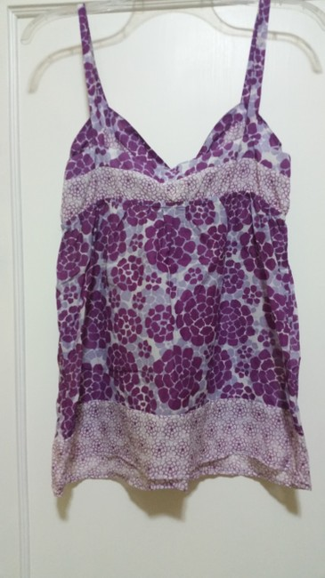 Ella Moss Floral Top Purple