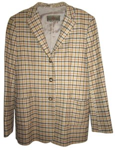 Luciano Barbera Beige with blue and browns Blazer