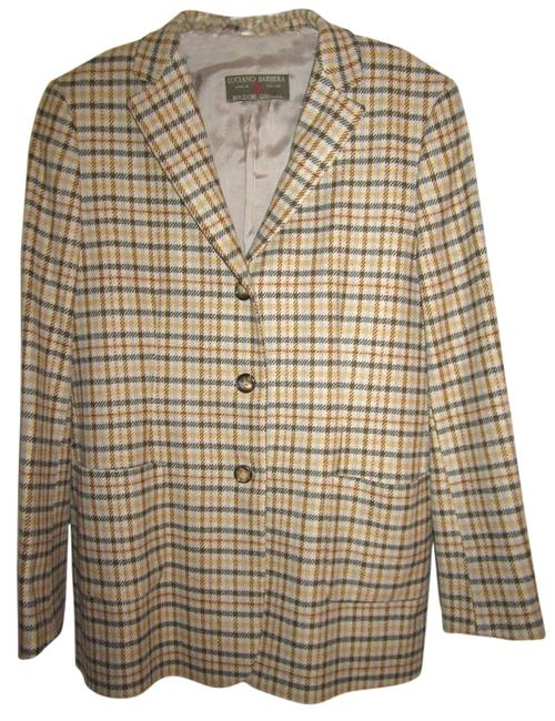 Preload https://item5.tradesy.com/images/luciano-barbera-beige-with-blue-and-browns-blazer-4382254-0-0.jpg?width=400&height=650