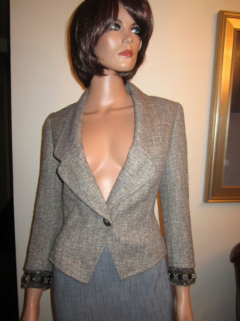 St. John Neutral Multi-Color Blazer