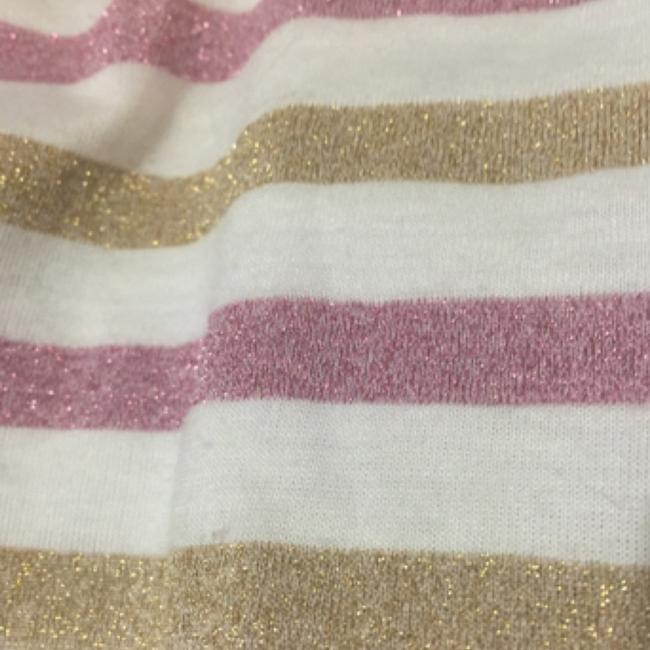 Charlotte Russe White, Pink, Gold Halter Top