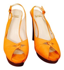 Stuart Weitzman Orange sherbet Pumps