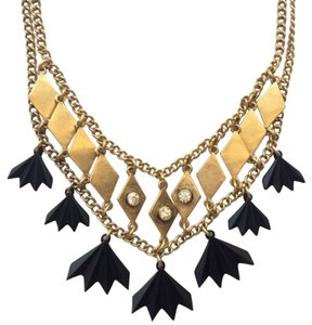 J.Crew Golden Squares Double Chain Necklace