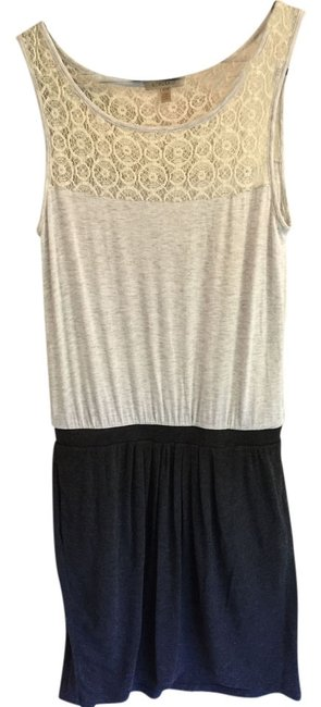 Bordeaux short dress Dark grey + light grey on Tradesy