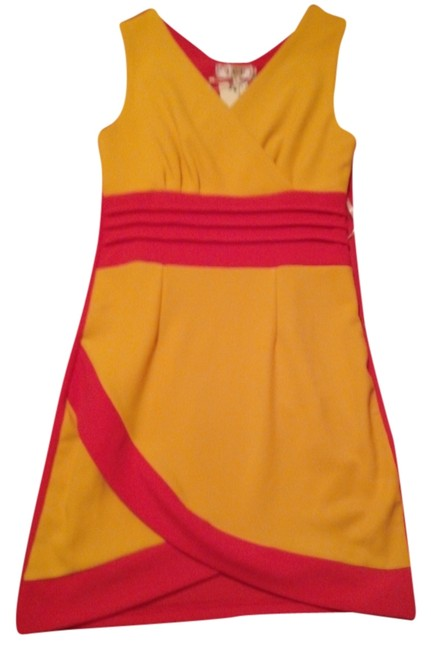 Preload https://img-static.tradesy.com/item/4384045/coral-and-yellow-icu-collection-above-knee-night-out-dress-size-6-s-0-0-650-650.jpg